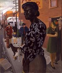 Elsie Palmer Payne (1884-1971), Bus Stop The Buck Collection at the UCI Institute and Museum for California Art