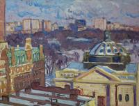 GIFFORD BEAL (1879---- 1956) View from the Studio [27 W.  67th Street], circa 1930 Oil on canvas, 30 x 40 inches, Estate of the Artist