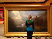 Albert Bierstadt's iconic Mount Whitney was refitted with a custom-made replica of an 1870s American frame for the Rockwell Museum of Western Art.