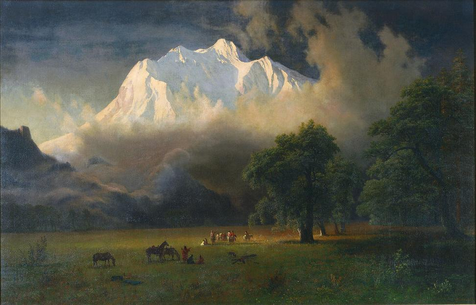 Albert Bierstadt, American, 1830–1902, Mount Adams, Washington, 1875.  Oil on canvas.  Gift of Mrs.  Jacob N.  Beam.