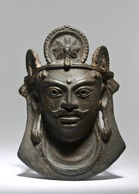 Rare Cast Bronze Mask of Bhairava from the Hephthalite period