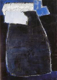 Applicat-Prazan - Nicolas de STAËL (1914-1955) Grande composition bleue, 1950-1951 Oil on plywood 200 x 150 cm