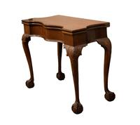 LOT 344: AMERICAN CHIPPENDALE SERPENTINE FRONT CARVED TABLE, 18th century