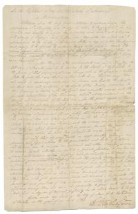 Thanksgiving Proclamation, signed by George Washington, 1789