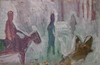 Bob Thompson, Search for the Unicorn, 1960, gouache on paper, 25 ½ x 39 ½ inches