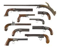 Samples from a rare collection of underhammer guns.