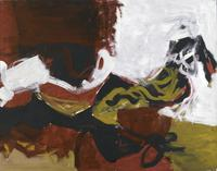 Charlotte Park, Untitled (Black, White, Red, and Brown III), c.  1955, Gouache on paper, 22 1/2 x 28 1/2 in.