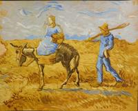 Tempera and gouache on paper attributed to Vincent Van Gogh (1853-1890), titled Morning, Going to Work ($96,000), one of five Van Goghs in the sale.