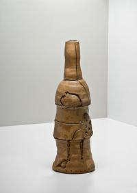 PETER VOULKOS, GASH STONEWARE STACK POT/ Cowans+Clark+DelVecchio Modern and Contemporary Ceramics Auction, Nov.6, 2010