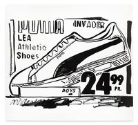 Andy Warhol (1928-1987) Puma Invader (Positive), 1985-86, Synthetic polymer paint and silkscreen ink on canvas (estimate: $1,200,000-1,800,000)
