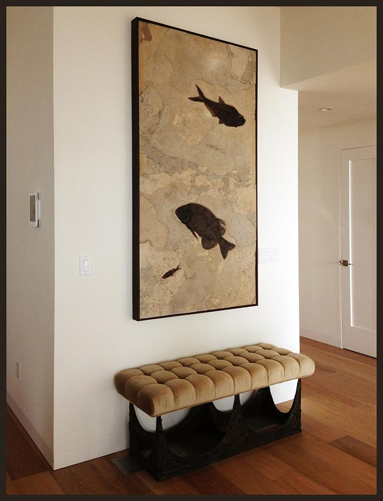 Example Of A Fossil Wall Mural Created By Green River Stone Company