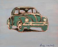 Volkswagen Beetle, an acrylic on paper attributed to Andy Warhol, signed lower margin and verso (est.  $30,000-$50,000).