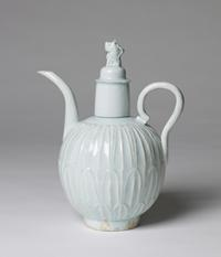 Qingbai Ewer with Carved Petals, Song Dynasty, 960 - 1279 A.D.
