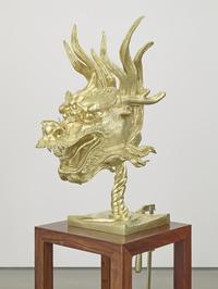 Ai Weiwei, Circle of Animals/Zodiac Heads: Gold (detail: Dragon), 2010, Bronze with gold patina, Dimensions variable.  Private Collection.  Images courtesy of Ai Weiwei.