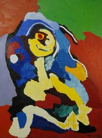 Karel Appel oil on canvas