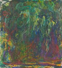 Claude Monet (1840-1926), Weeping Willow, between 1920 and 1922 Oil on canvas.  H.  1.1; W.  1 cm Paris, musée d'Orsay.  Philippe Meyer donation, 2000 © RMN-Grand Palais (musée d'Orsay) / Adrien Didierjean