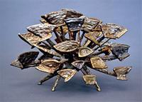 Harry Bertoia, iron and bronze sculpture study for Gold Tree, c.  1950s.  Lost City Arts, New York.