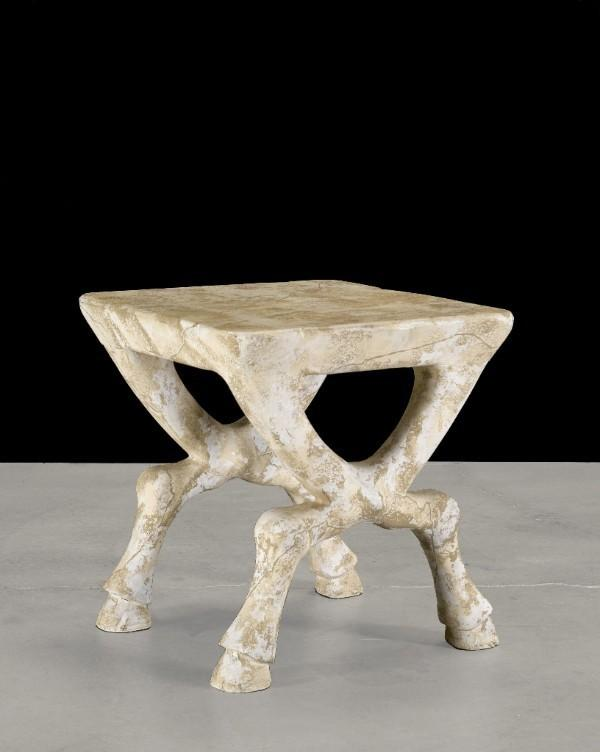 John Dickinson, Custom Hoofed Side Table, C. 1970. (Estimate: $8,000 12,000)