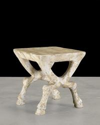 John Dickinson, Custom Hoofed Side Table, c.  1970.  (Estimate: $8,000-12,000)