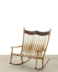 Sam Maloof, Rare Double Rocking Chair, circa 2016 (estimate $30,000 - 50,000)