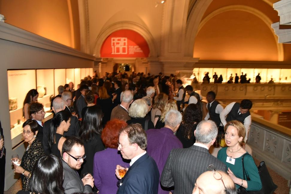 Guests celebrating Asia Week New York at a reception hosted by the Asian Department of The Metropolitan Museum of Art and Asia Week New York