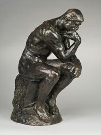 Bowman - Auguste Rodin (Paris 1840-1917 Meudon), Le Penseur (The Thinker) Bronze with a black patination with lighter brown highlights Height 37.5 cm