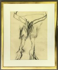 Original charcoal drawing by Willem de Kooning (Dutch/Am., 1904-1997), not a print or a multiple.