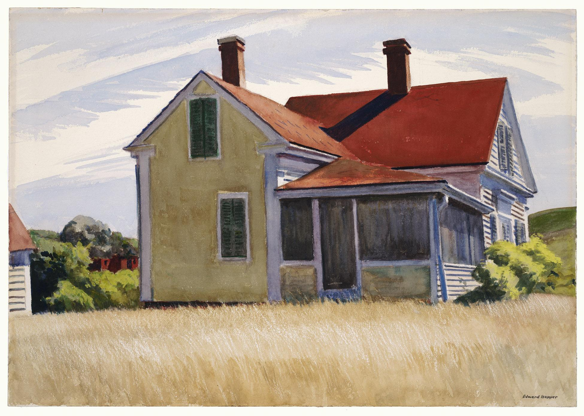 Connecticut watercolor artists directory - Edward Hopper 1882 1967 Marshall S House 1932 Opaque And Transparent Watercolor Over Graphite On Wove Paper Wadsworth Atheneum Museum Of Art Hartford