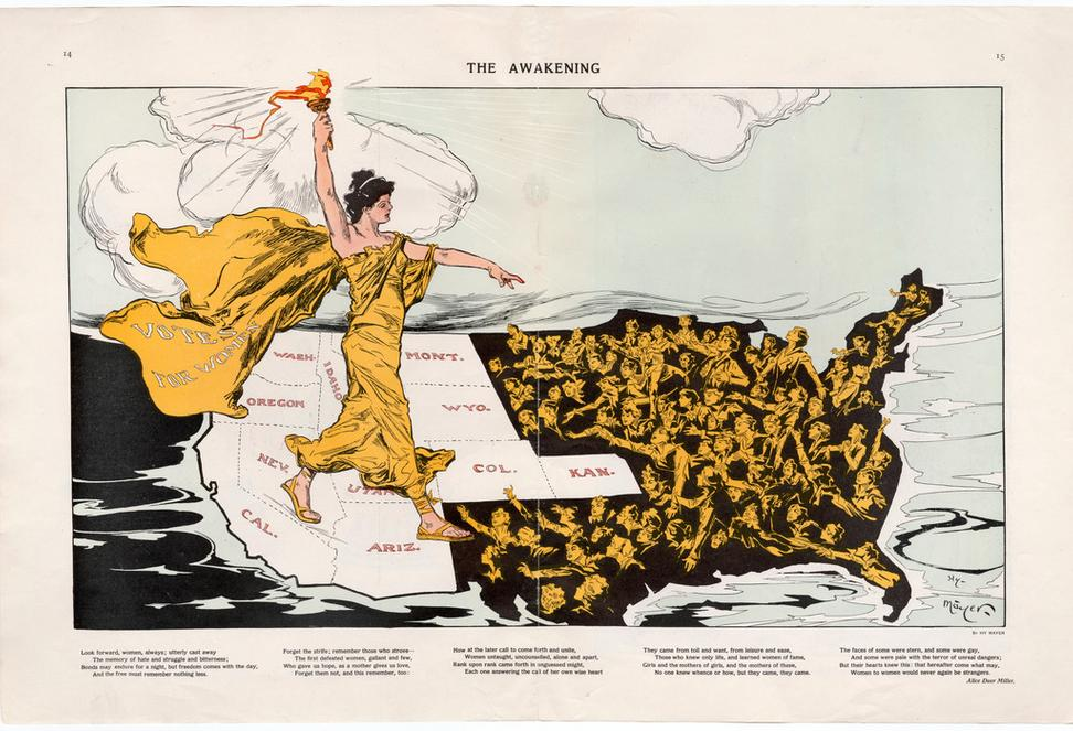 The Awakening, February 20, 1915.  Chromolithograph.