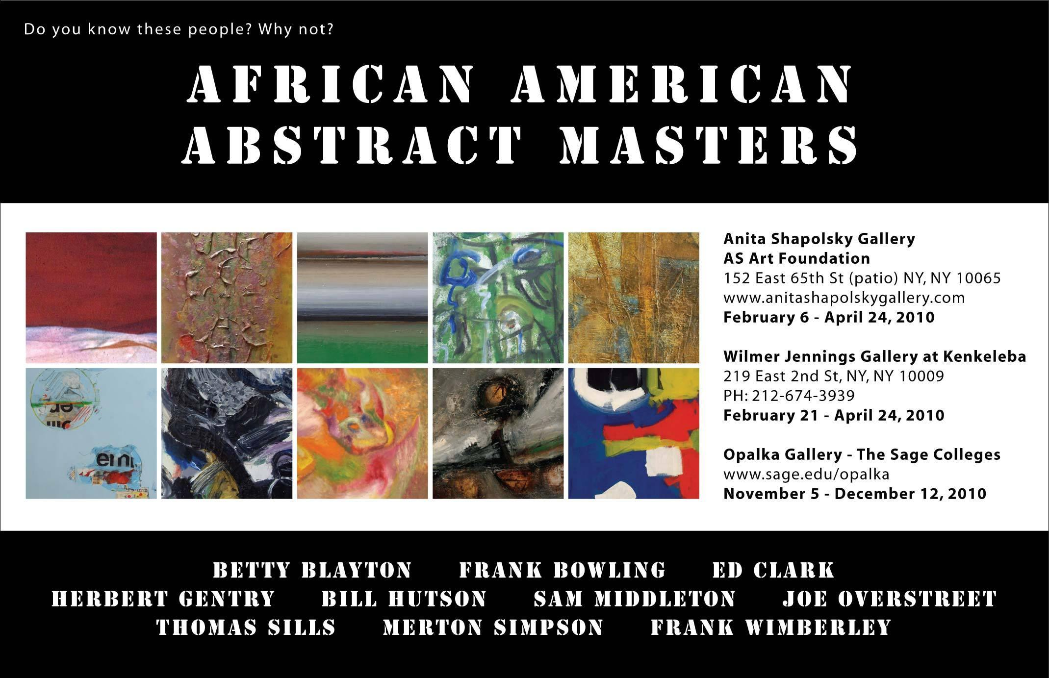 African American Abstract Masters Artwire Press Release From
