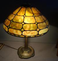 "Lot 101 - TIFFANY STUDIOS ""Colonial"" Table Lamp."