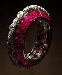 A Ruby and Diamond Cuff Bracelet by Boucheron, sold by Symbolic & Chase