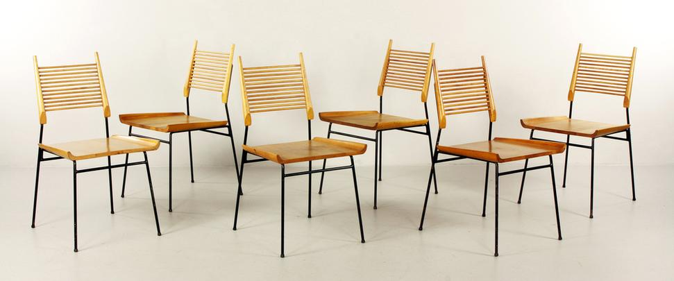 Attractive Lot#2112 Set Of Six Paul McCobb Dining Chairs For Planner, Winchendon,