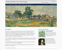 View of the NGA Images home page
