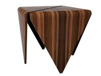 "Campestria Side Table, zebra wood, 24""w x 24"" d x 24"" h"