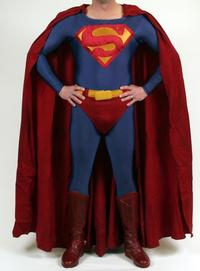 Superman costume reportedly worn by Christopher Reeve
