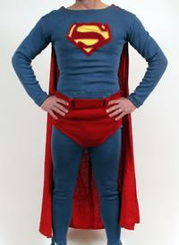 Superman costume reportedly worn by 1950s TV Superman George Reeves