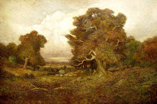 "George W.  Whitaker, ""Under the Oaks"""
