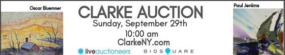 Clarke Auction - Sunday Sep.  29 - ClarkeNY.com