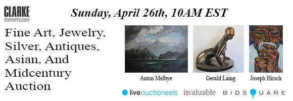 Fine Art Auction - April 26 - ClarkeNY.com