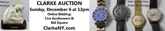 Clarke Auction - Sunday December 6