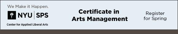 NYU - Certificate in Arts Management