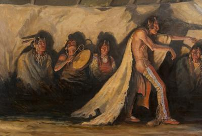 "Joe Beeler, ""Spellbound,"" oil on canvas; Courtesy the Peterson Family Collection."