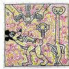 Keith Haring (American, 1958-1990) Untitled, 1983, acrylic on vinyl tarpaulin Estimate on Request
