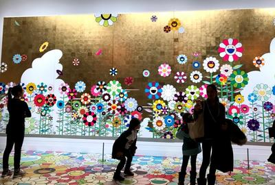 Takashi Murakami exhibition at Museum of Fine Arts, Boston, in 2017.