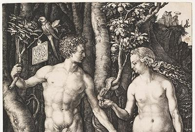 Albrecht Dürer (1471–1528).  Adam and Eve, 1504.  Engraving, platemark: 9 5/8 x 7 1/2 in.  Cincinnati Art Museum, Bequest of Herbert Greer French, 1943.193