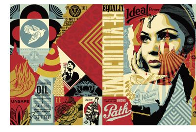 Shepard Fairey, Obey Ideal Power Mural.  Verisart certified NFT sold on SuperRare © Shepard Fairey, Courtesy of the artist