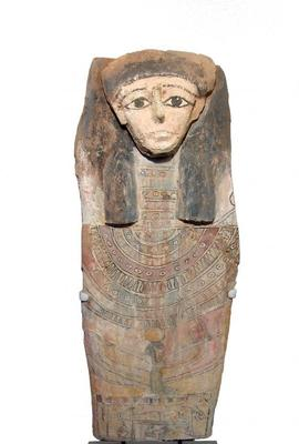 Egyptian panel from the lid of a sarcophagus, dating to the Late Period (circa 664-332 BC), 33 ½ inches long, formerly in the collection of the late actor Larry Hagman (est.  $12,000-$20,000).