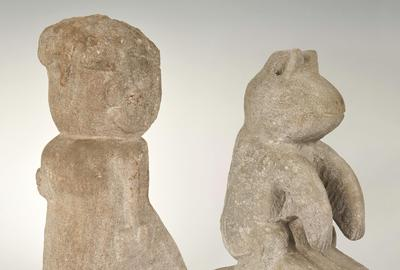 "Case's July 11-12 auction features two sculptures by important African American artist William Edmondson: ""Lady with a Book"" (est.  $40,000-44,000) and a ""Critter"" (est.  $18,000-22,000)."