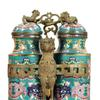 A rare Chinese cloisonné champion vase that will be up for auction on Saturday, September 7, 2013